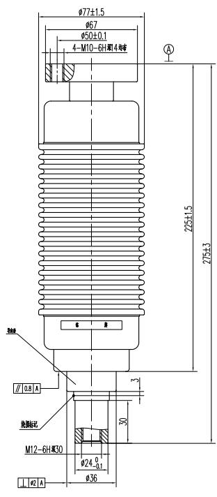 TD314Y户内断路器用真空灭弧室结构图
