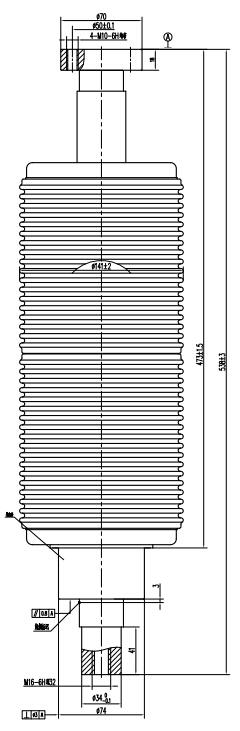TD546A户内断路器用真空开关管结构图