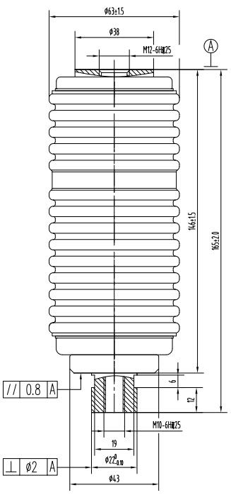 接触器用真空灭弧室 TJ340A结构图